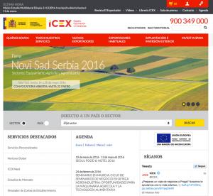 Página de inicio www.icex.es
